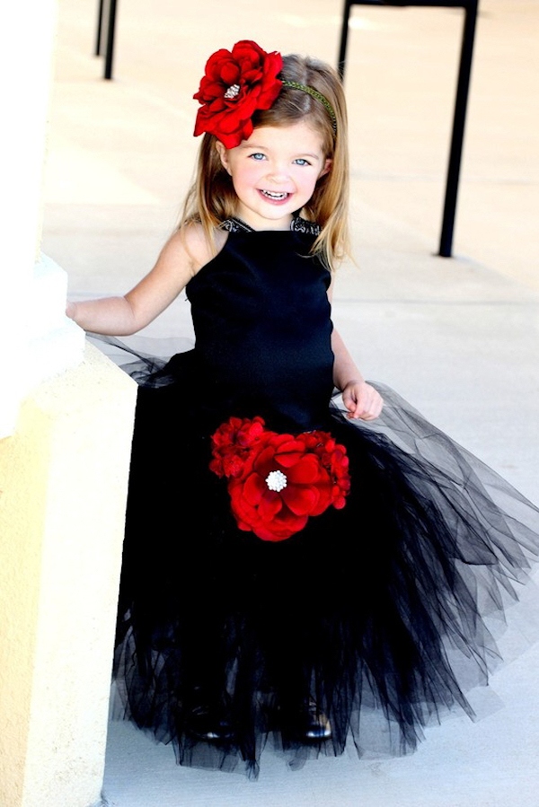 Black Flower Girl Dresses Bitsy Bride