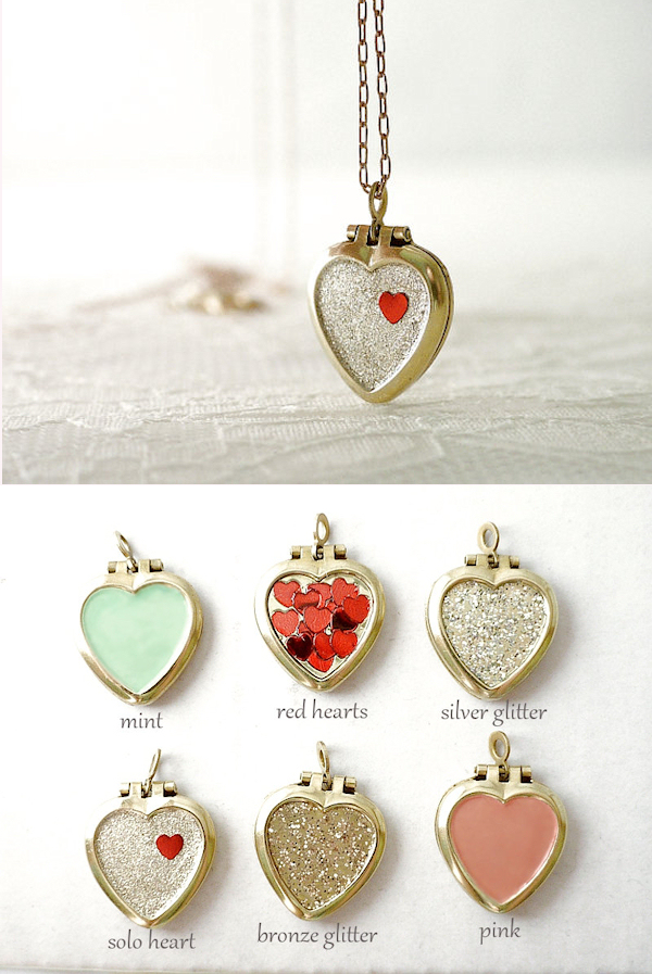 Heart Locket Bridesmaid Necklaces  sc 1 st  Bitsy Bride : gifts for brides from bridesmaid - medton.org