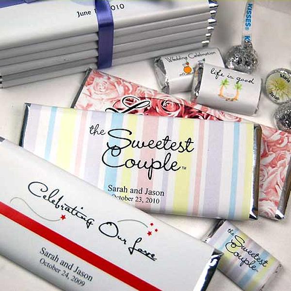 Custom Chocolate Bar Wedding Favors