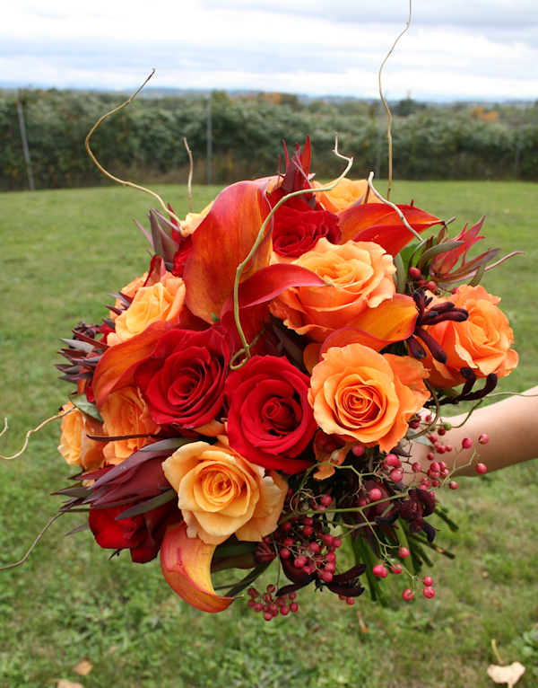 Orange Bridal Bouquets - Bitsy Bride