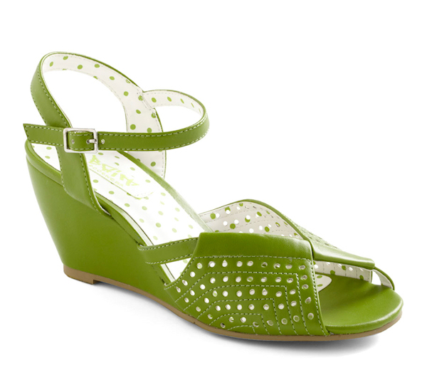 Lime Green Bridal Wedges