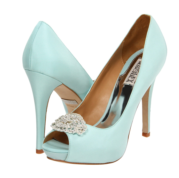 High Quality Blue Bridal Wedges. Light ...