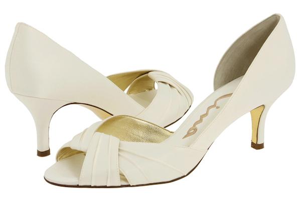 Peep Toe Bridal Shoes - Bitsy Bride