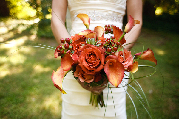 Orange Fall Bridal Bouquet