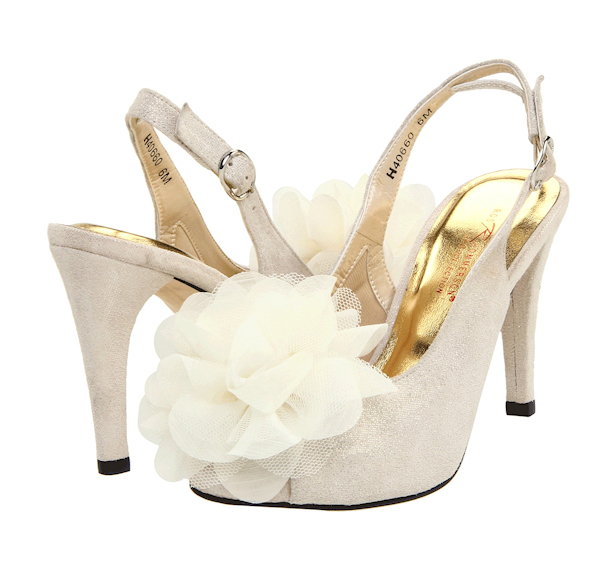 Peep Toe White Wedding Shoes