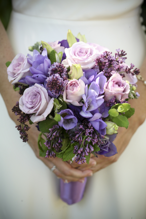 Purple Wedding Flowers - Bitsy Bride