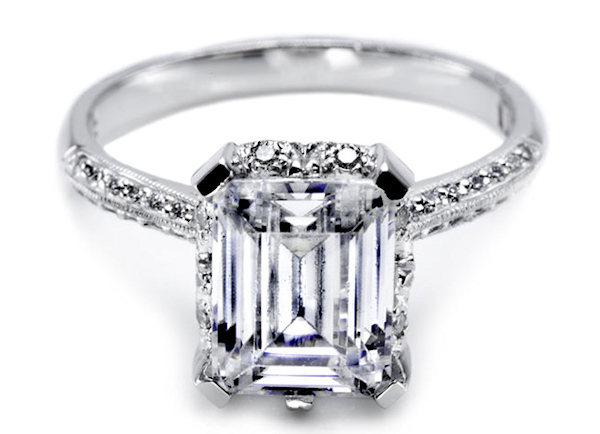 rectangle engagement ring Bitsy Bride