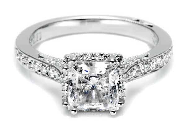 square diamond engagement ring Bitsy Bride