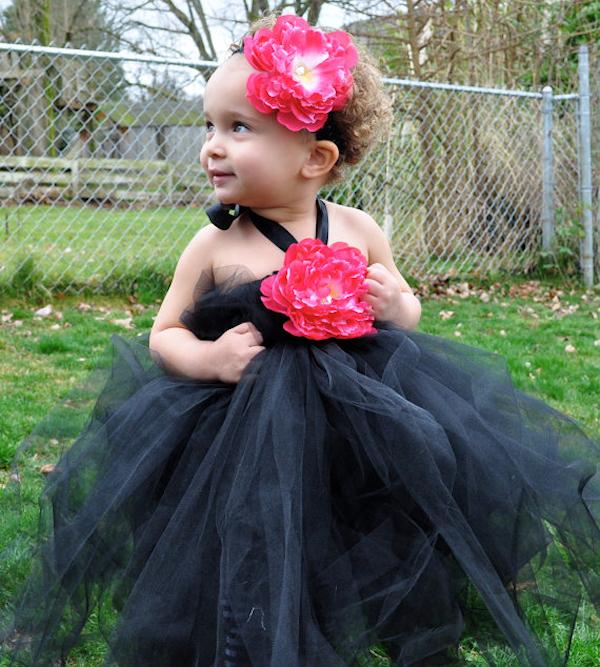 Black Flower Girl Dresses Bitsy Bride