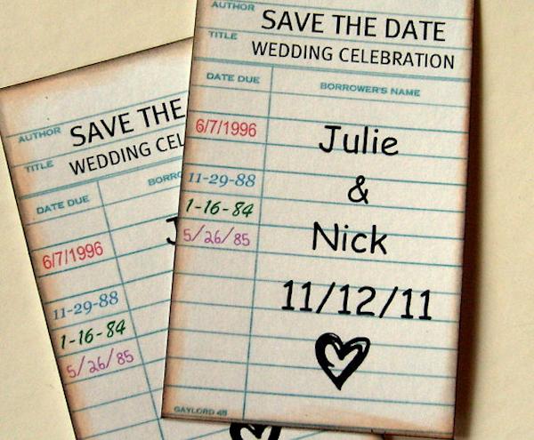 unique save the date invitations - Bitsy Bride