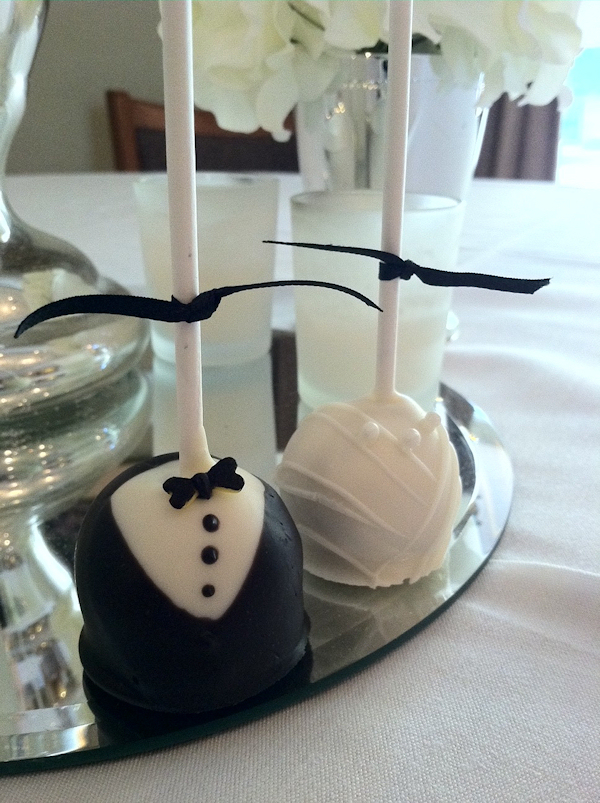 White Cake Pops Bitsy Bride