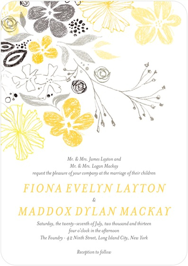 Yellow Wedding Invitations is one of our best ideas you might choose for invitation design