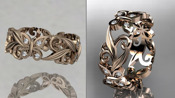ornate diamond engagement ring - Wedding Rings Unique