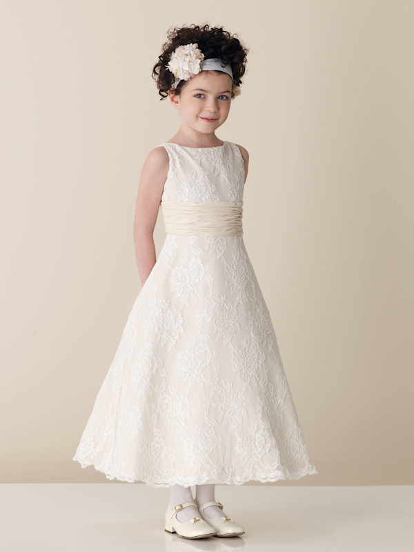 White Flower Girl Dresses - Bitsy Bride