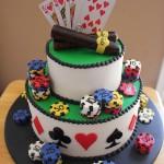 Poker Groom Cakes