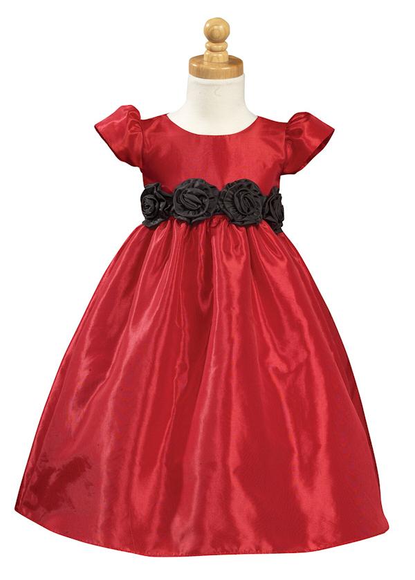 Red Flower Girl Dresses - Bitsy Bride