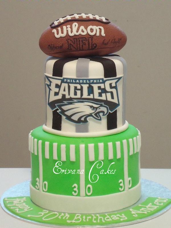 football groom cakes