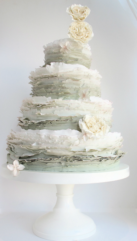 Detailed White Wedding Cake Tall