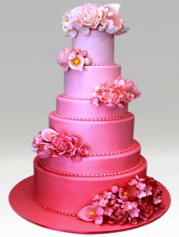 Pink Wedding Cakes Bitsy Bride