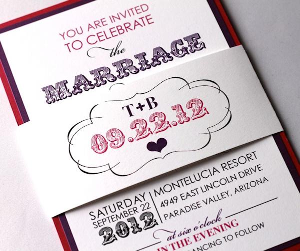Purple Wedding Invitations Bitsy Bride – Purple Fall Wedding Invitations
