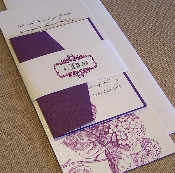 artistic purple wedding invitations - Purple Wedding Invitations