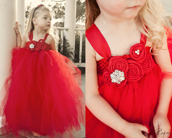 Red dress for baby girl