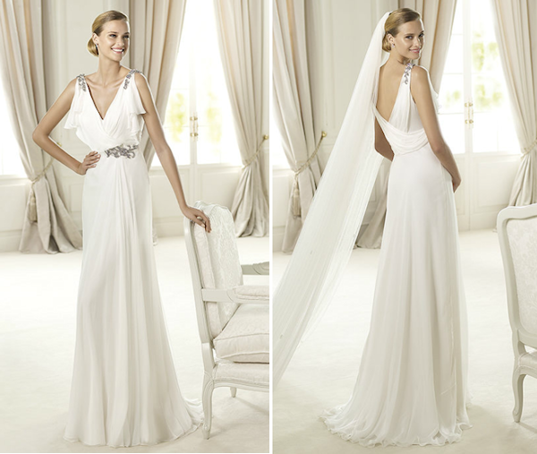 The Best Grecian Style Wedding Dresses: Pronovias Wedding Dresses
