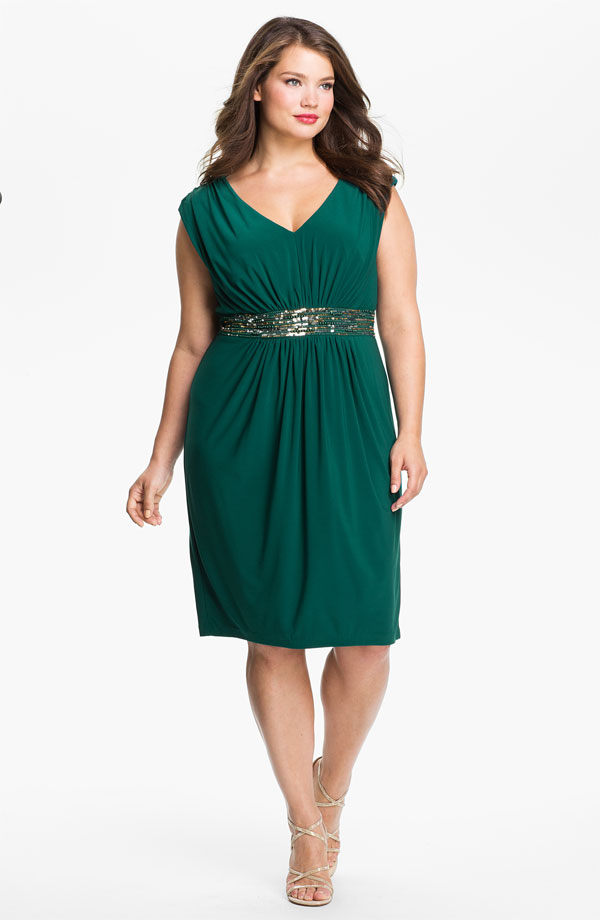 Plus size emerald green bridesmaid dresses