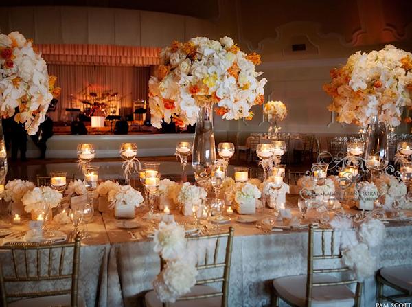 Orange Floral Centerpieces Bitsy Bride