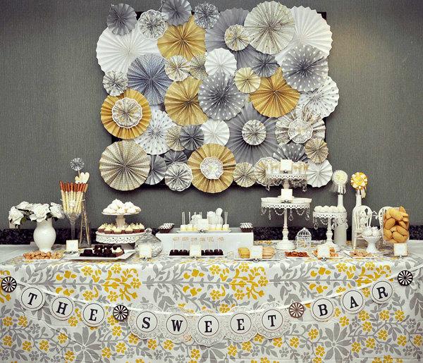 Wedding Decor Grey And Yellow - Wedding Dress & Decore Ideas