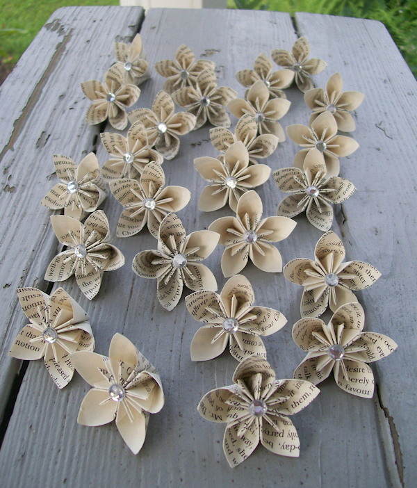Book Paper Wedding Garland Flower Garlands