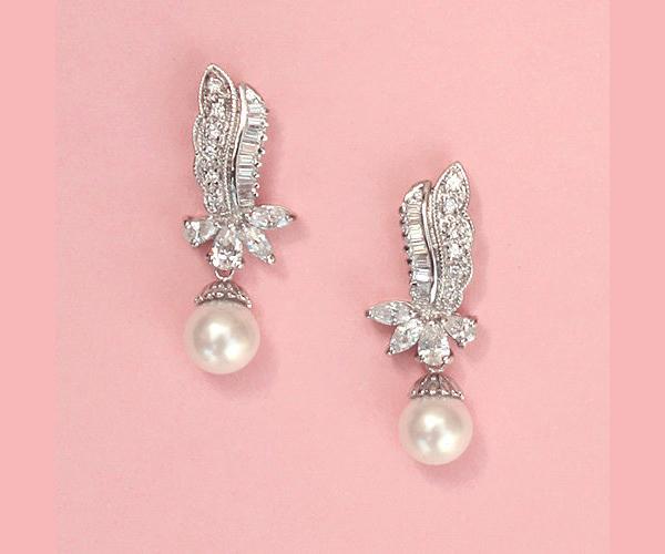 Cute Dangly Wedding Earrings Bitsy Bride