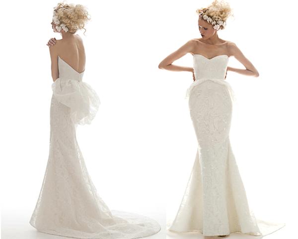 Elizabeth fillmore wedding dresses bitsy bride for Peplum dresses for weddings