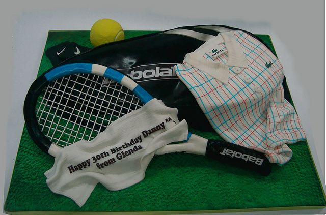 Tennis Groom's Cake Idea