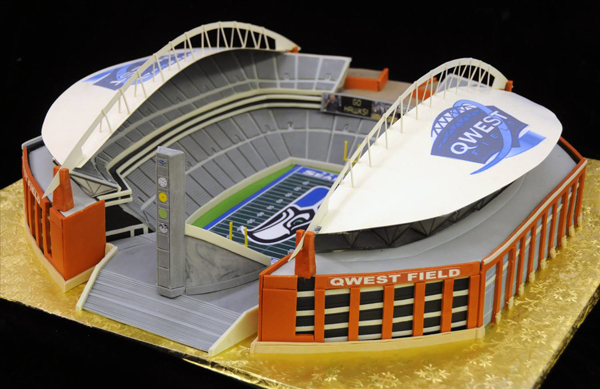 Qwest Field Stadium Cake