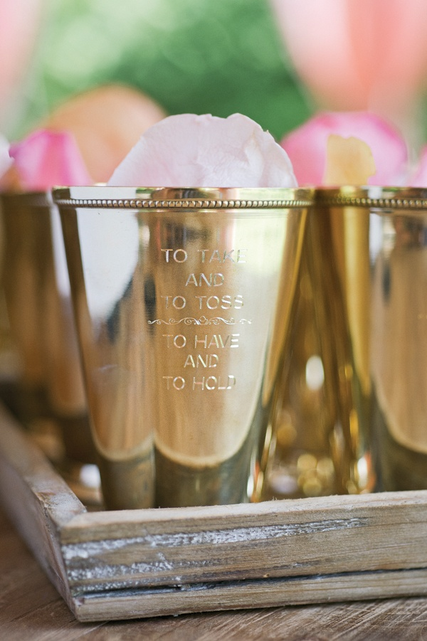 Engraved Julep Cup For Rose Petals